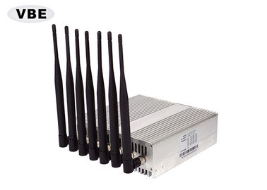 7 Bands 16W Wifi Signal Jammer CDMA / DCS / PCS 110V - 240VAC Power Supply